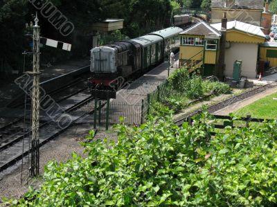 preserved railway station