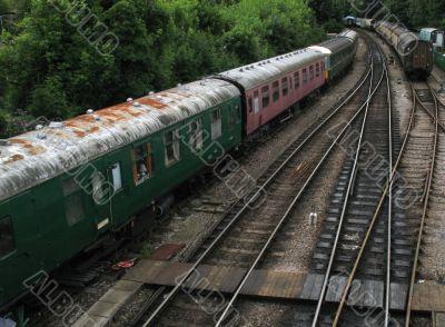trains awaiting preservation