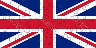 Flag United Kingdom as a puzzle image