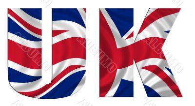 Waving Flag Word Uk