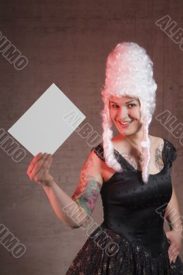 woman holds letter