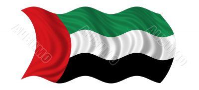 Waving Flag Of United Arab Emirates