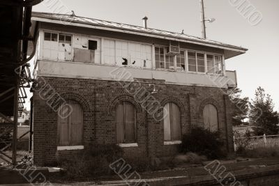 Disused Railway Station: Points Control Building