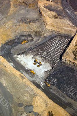 Aerial: Coal Mining Industry