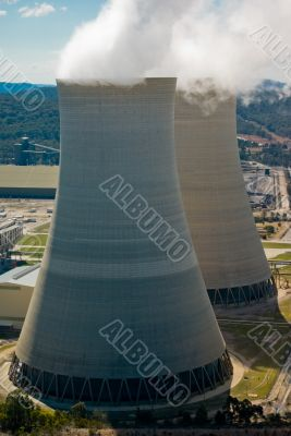 Coal Power Station: Aerial View