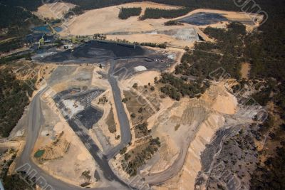 Aerial: Coal Mining Industry