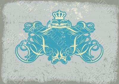 heraldic titling frame