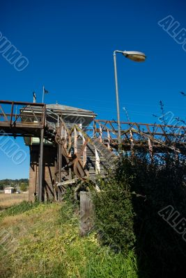 Disused Railway Station: Pedestrian Bridge