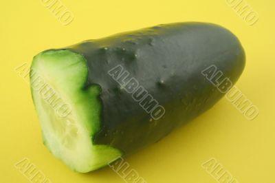 cucumber profile on yellow
