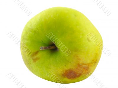 green apple - pure white background