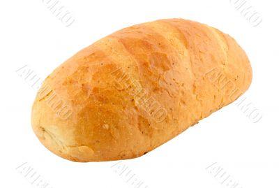 polish bread - pure white background