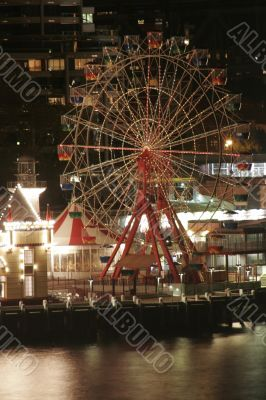 Ferry Wheel At Night