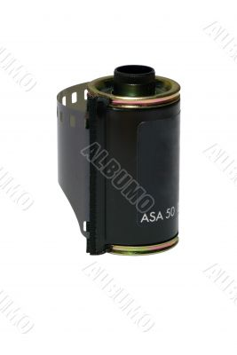 Film Canister - Isolated with Clipping Path