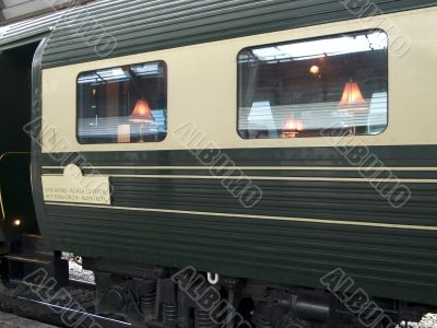 Luxury dining railway car