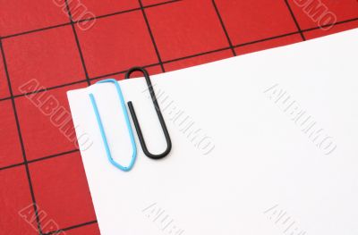 paper clips with copyspace
