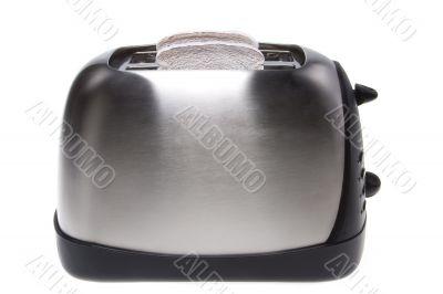 Retro toaster and white bread