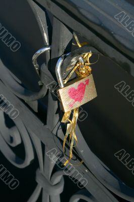Series of photographs `lock for the happiness`