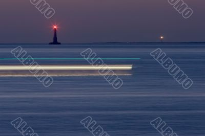 lighthouses by night
