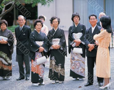 Japanese People in Traditional Clothing