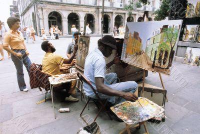 Painter on Road
