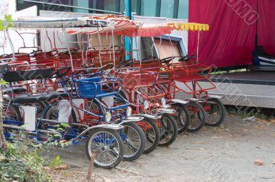 Parked quadricycles