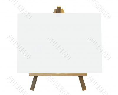 Wood Easel With White Canvas