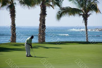 golf, sport, man, paradise, beach, mexico