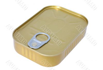 Canned food - pure white background