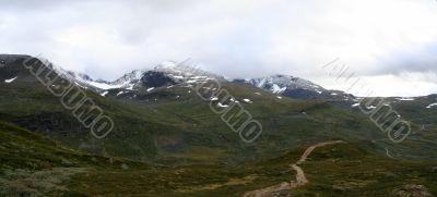 Panoramic view of mountain plato