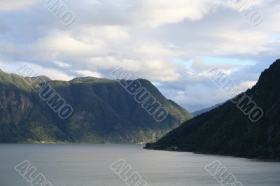 Beautiful norway fjord