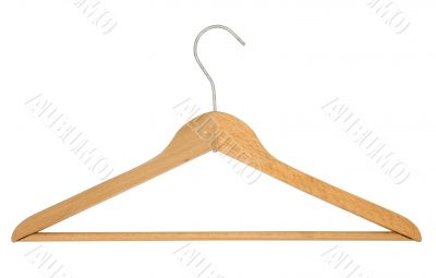 Coat Hanger - pure white background