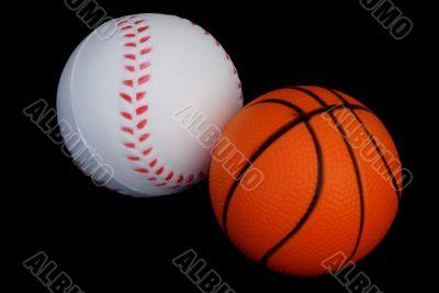 Two sporty balls.