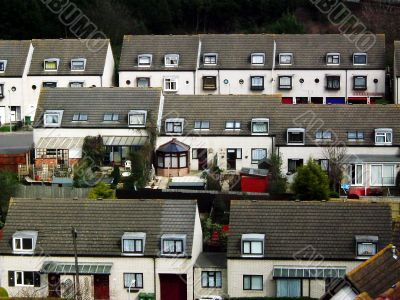 Housing estate seen from above