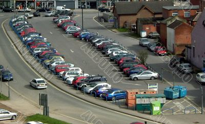 car park as seen from elevated view