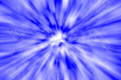 Blue Warp Abstract