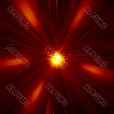 Red Warp Abstract