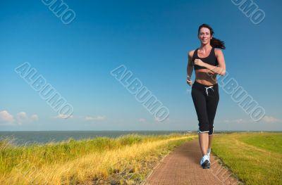 woman running in summer