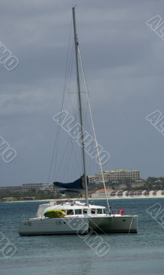 Sail Boat Anchored