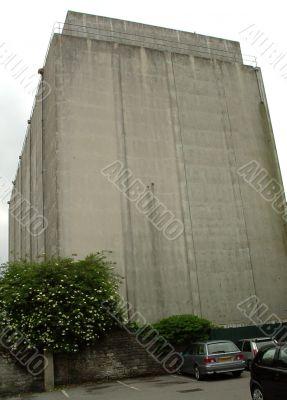 Huge concrete storage building