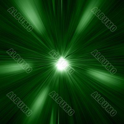 Green Warp Abstract