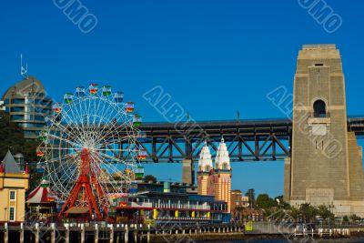 Luna Park and the Harbour Bridge: Sydney, Australia