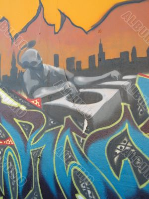Graffiti - the disc jockey