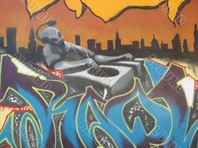 Graffiti - the disc jockey