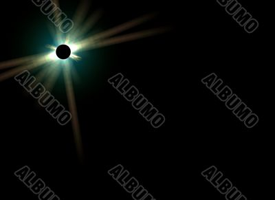 eclipse with lens flare