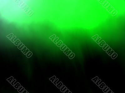 green shimmer like northern lights