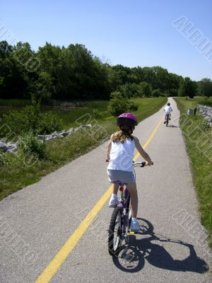 children riding bikes
