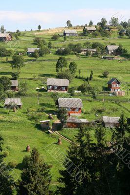 Village in Carpathians