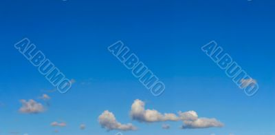 bright sky panorama  with a few clouds