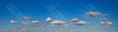 High resolution bright sky panorama