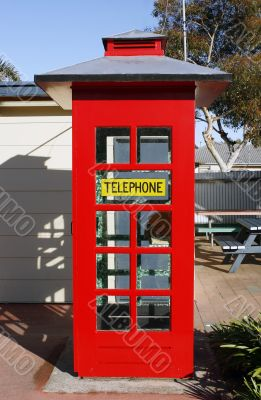 Classic red telephone box